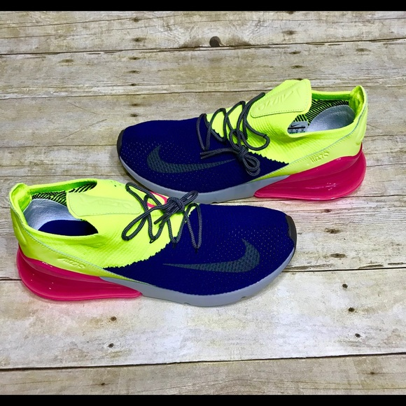 Nike Shoes Air Max 270 Flyknit Pink Blue Green Size 12 Poshmark